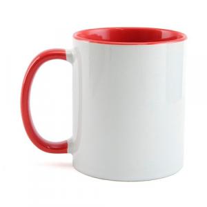 Caneca de Porcelana Colorida (Vermelha)